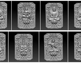 eight buddhas bas-relief 3D model