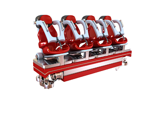 3D asset realtime Realistic Roller Coaster Seat