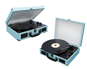 Victrola Vintage Suitcase Record Player 3D model