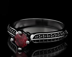 3D print model Diamond engagement ring 554