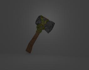 Customizable Survival Axe 3D asset
