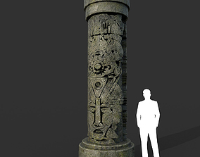 Low poly Mayan Inca Ruin Temple Modular 03-6k 3D model