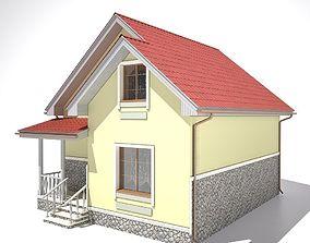 3D model House concrete