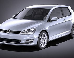 Vw Golf VII 3doors 2013 VRAY