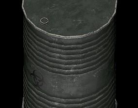 oil barrel toxic danger 3D asset
