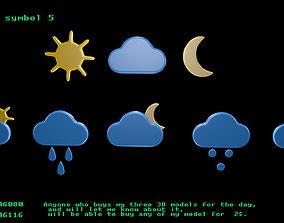 Weather symbol 5 3D
