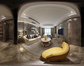 3D model Living mic Modern Style Living Room 3
