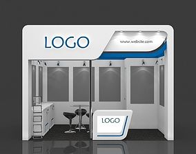 Exhibition Booth 3D Model 4 mtr x 3 mtr
