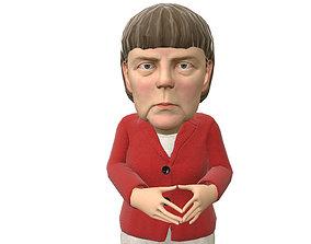 Angela Merkel caricature 3D model