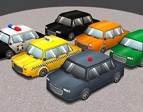 3D model Cartoon Cars pack 2