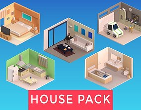 3D asset Indoor House Pack