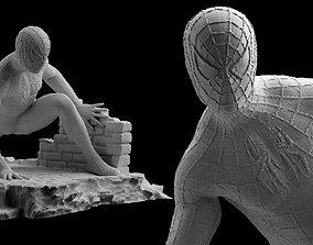 3d-print Spiderman Statue 3D Print Spider-Man figure