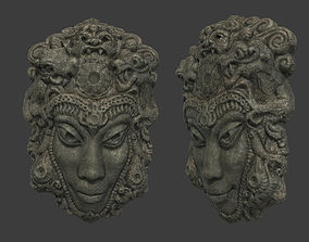 3D asset game-ready Mayan Tribal Mask 2