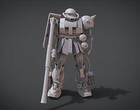 MS-06 ZAKU II 3D printable model uniform
