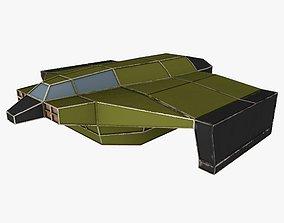 3D asset cargo space ship 2