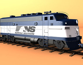 Diesel Locomotive 3D model