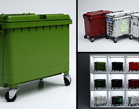 3D model Wheelie Bin Dumpster
