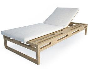 3D Kontiki Wooden Outdoor Long chair 2