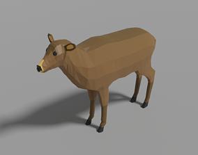 3D model realtime Cartoon Deer