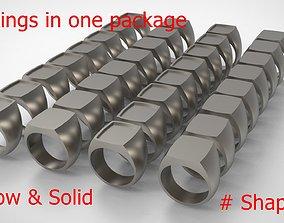 Signet Men Ring Pack No 44 3D print model