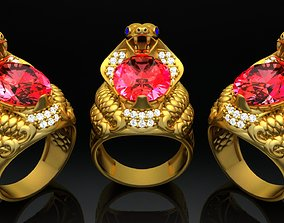 3D print model Nhan Nam Ran Ho Mang - Cobra Men Ring