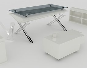 3D model animated Office Furniture