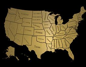3D printable model USA map
