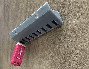 USB Holder - Organizer 3D print model