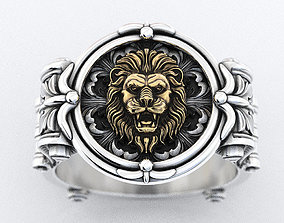 3D print model An ancient lions ring with patterns 373