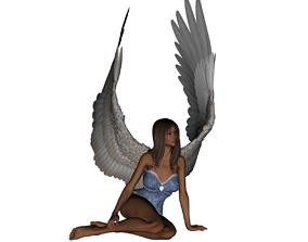 Angel girl 3D printable model sculptures
