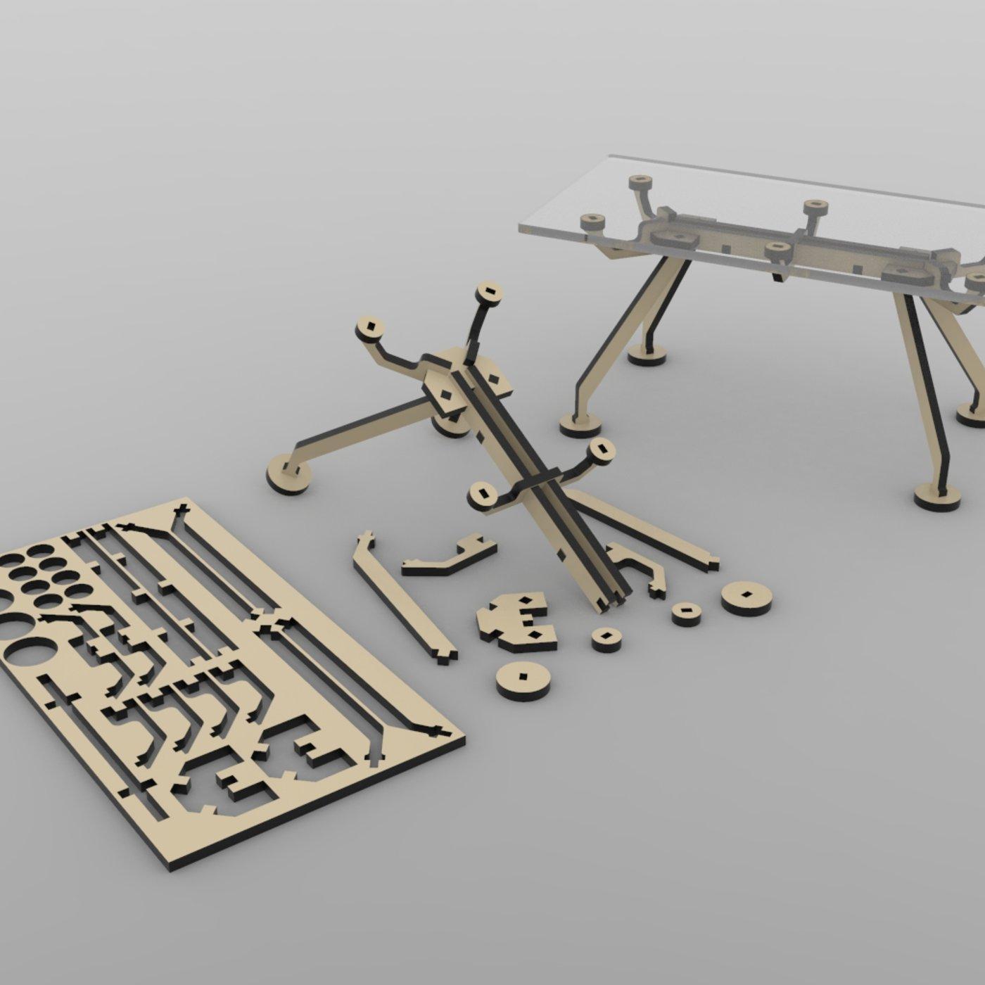 Nomos tables ready for lasercut
