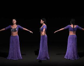 3D model Female Human In A Purple Dress