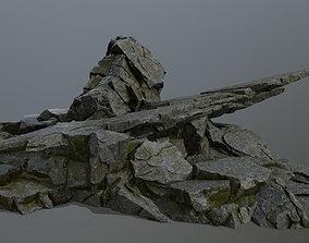 rocks cliff 3D model game-ready
