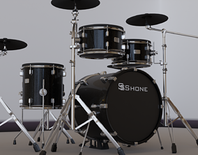 Drums bass 3D model