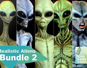 Realistic Aliens Bundle 2 3D asset animated