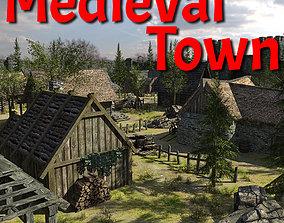 Medieval Fantasy Town 3D model