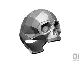 3D print model roger Polygonal Skull ring jewelry