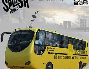 3D asset rigged Amphibian Splashtours Bus