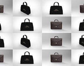 Low poly Bags briefcase 3D model