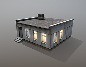 3D asset low-poly Railway Building RW BlockPost