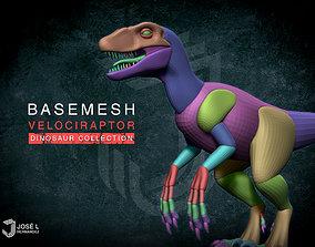 3D model Blockout Velociraptor