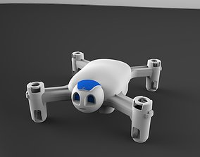 3D printable model Drone with Robot Face