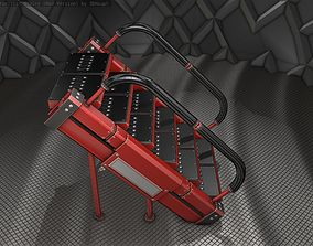 3D model Sci-Fi Stairs - 8 - Red Version