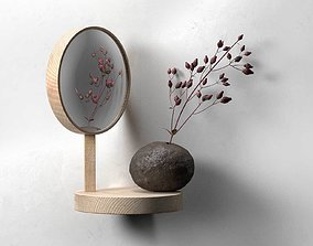 ball 3D model Belvedere Shelf Mirror with Vase