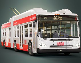 San Francisco Trolleybus SFMTA MUNI 3D model