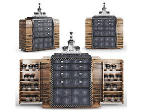 Rarolondon - Paddock Drinks Cabinet 3D asset