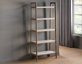 Madison park parker ladder bookcase 3D