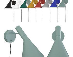 3D model Wall lamp AJ Louis Poulsen by Arne Jacobsen