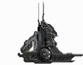 3D model Halo Sci-Fi Building