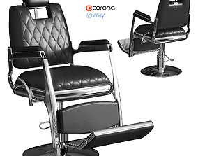 3D Chair for barbershop Neoclassic 3003 black